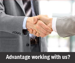 Advantage working with us